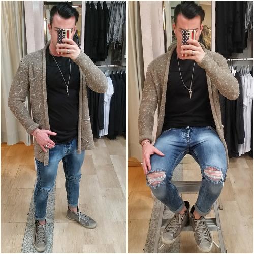 Matrimonio Uomo Jeans : Jeans strappo ginocchio skinny la matta abbigliamento