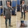 Maglia lunga jeans strappo sull ginocchio