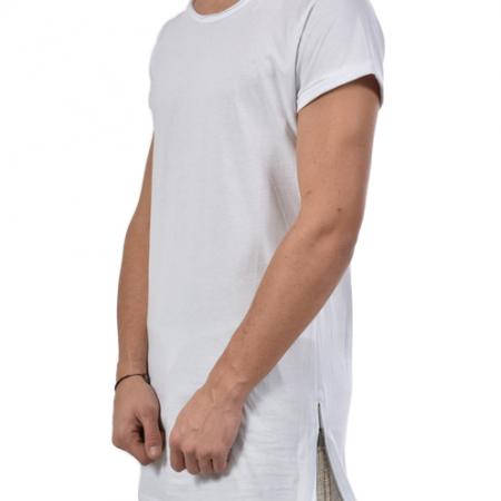 t-shirt lunga con zip