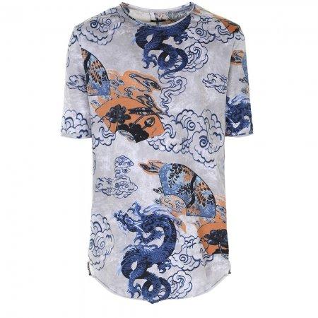 T shirt blu lunga