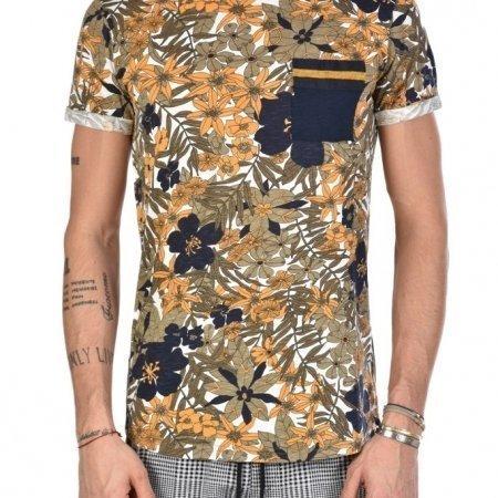 T Shirt Uomo a fiori XAGON MAN