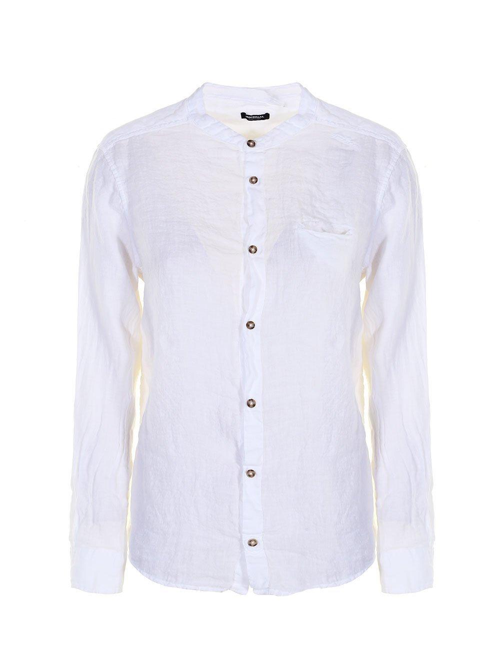Camicia Coreana Bianca Imperial- LA MATTA Abbigliamento  98132d097ab