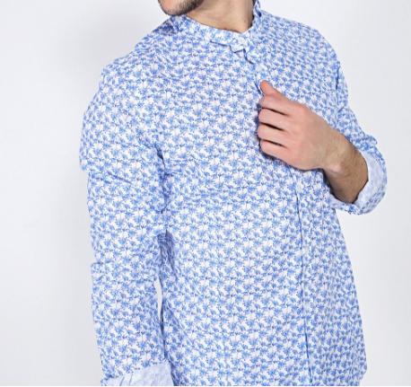 Camicia a fiori IMPERIAL collo coreana - LA MATTA Abbigliamento  6f40b31599c