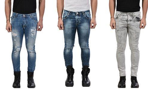 Jeans Strappati Uomo