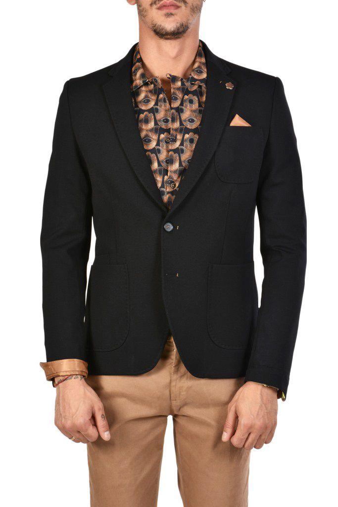 timeless design 73b20 17d34 Giacca Punto Milano Slim Fit color NERO disponibile con pantaloni e gilet  in coordinato