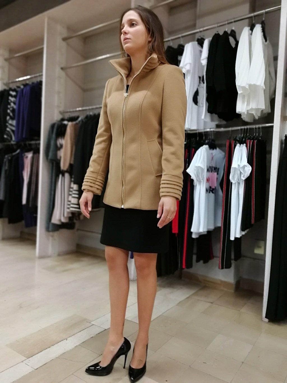 Rinascimento Matta Donna Cappotto Cammello La Abbigliamento PqI87Ew7