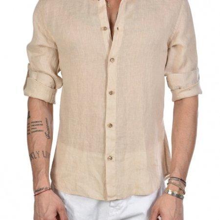 Camicia Lino Beige Xagon Man