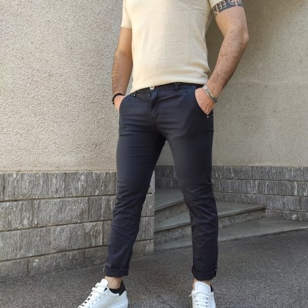 BERNA Pantaloni Blu