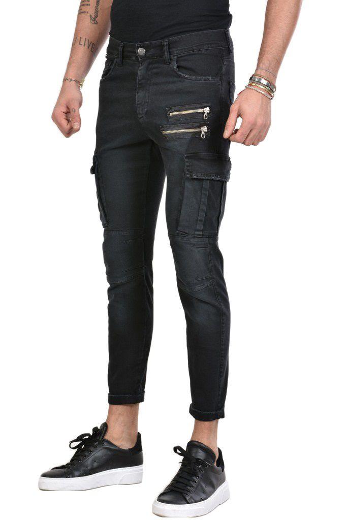 Pantaloni Cargo Neri XAGON MAN