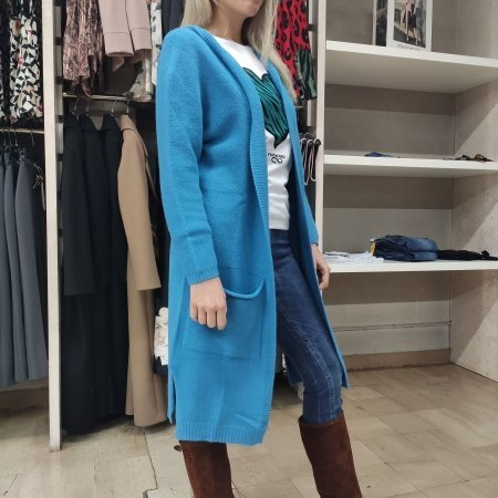 Cardigan Lungo Donna BLUE JOINT