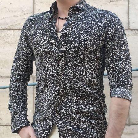 Camicia Viscosa Uomo OVER D